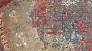 satellite image of Las Vegas (by: NASA)