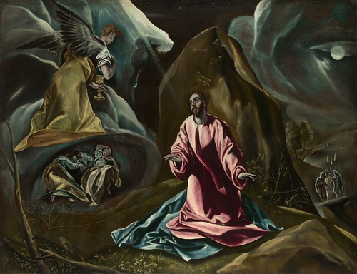 Studio of El Greco - The Agony in the Garden of Gethsemane [1590s] by Gandalf's Gallery