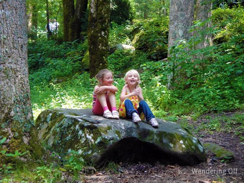 Two girls at in the Smokies. TN.