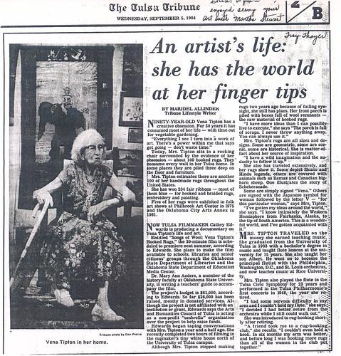 Vena Tipton - Tulsa Tribune Article