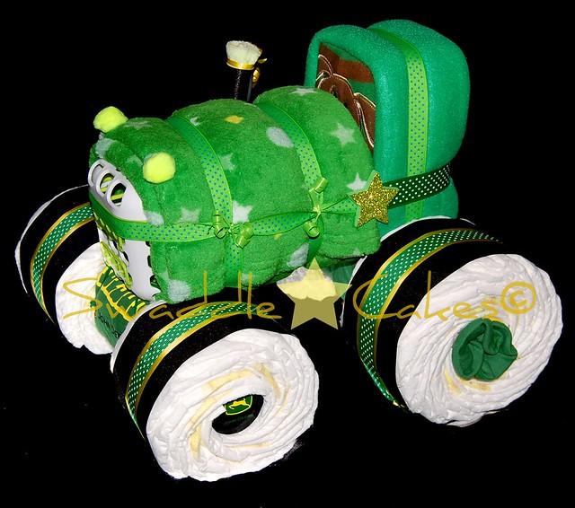 John Deere Diaper Tractor : Eb f z g