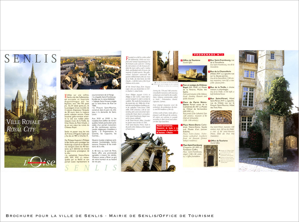Brochure for the town of Senlis (Oise, France)