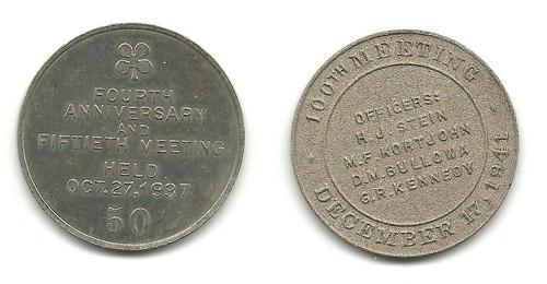 Bronx Coin Club medals