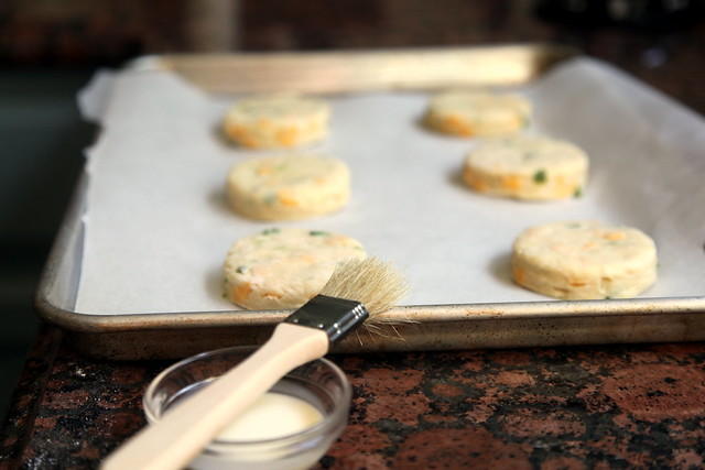 Brushing Scones with Cream