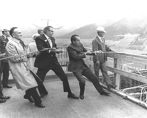 President Richard Nixon at Libby Dam