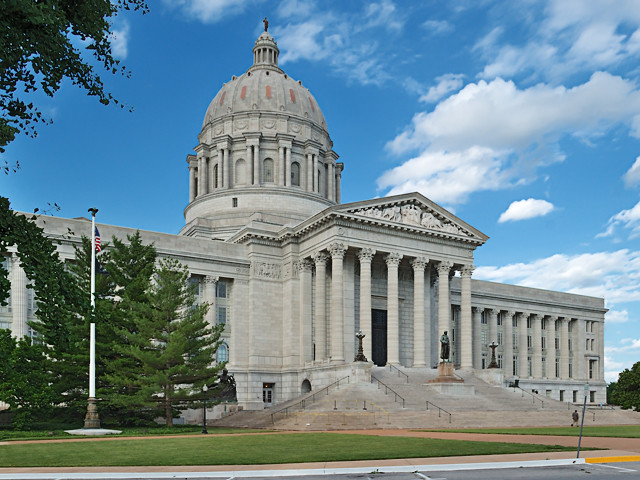 State Capitol, in Jefferson City, Missouri