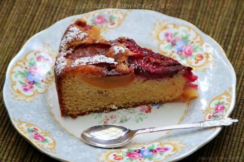 Nectarine & Plum Sponge Cake 1