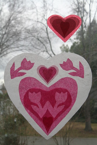 Valentine Window Transparencies