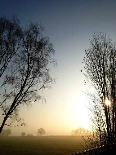 sky fog sunrise germany landscape nrw hdr kamen iphone ruhrarea fireleaf iphoneography riimnet