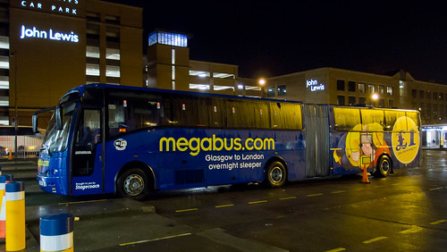 Megabus sleeper coach 51062 at Buchanan bus station, Glasgow