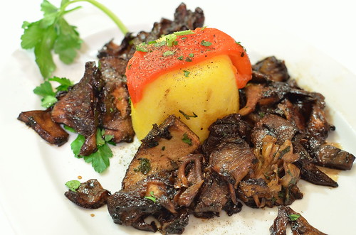 Truffled Polenta and Balsamic Mushrooms
