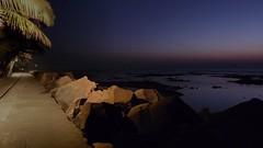 Night falls on the promenade