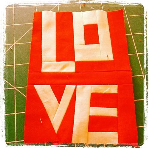 Handmade valentine by stayathomelibrarian