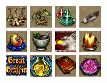 free Great Griffin slot game symbols