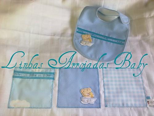 Fralda e babete para menino by ♥Linhas Arrojadas Atelier de costura♥Sonyaxana