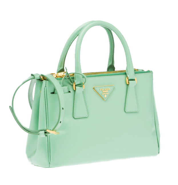 mint prada satchel tote bag