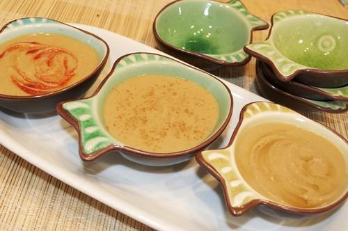 chickpea peanut sauce/ 3 bowls 2