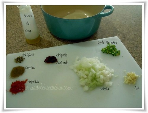 Ingredientes iniciales listos