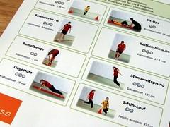 Übungen im Deutschen Motorik-Test (2012)