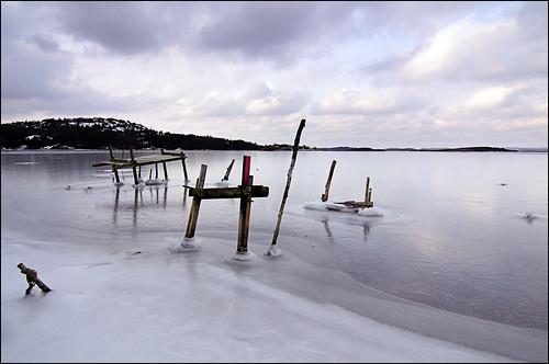 winter sea ice landscape is wooden vinter nikon structures marstrand hav landskap constructs d90 nikond90 kockholmen träkonstruktioner