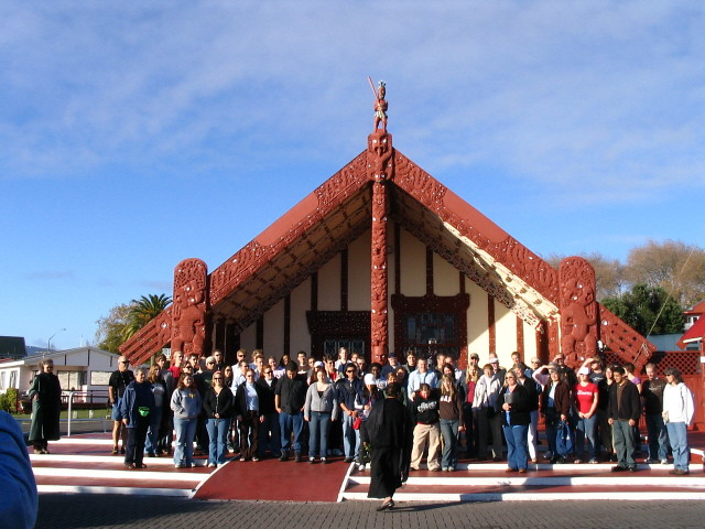 Northern Arizona University Shrine of the Ages Choir and the Master Chorale of Flagstaff at Ohinemutu Marae in Rotorua