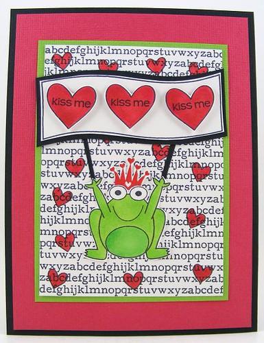 SOL February Kiss Me Frog Card