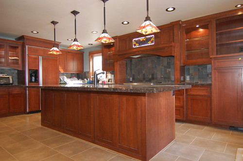 Stained cherry kitchen
