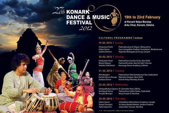 27th Konark Festival of Music and Dance – Konark Natya Mandap