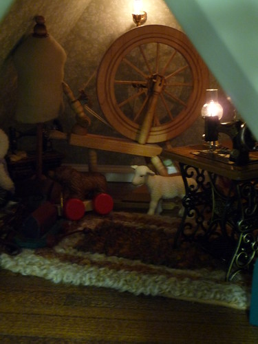 Spinning Wheel and Sewing Machine