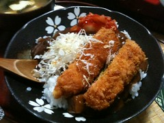 meal, steamed rice, tonkatsu, fried food, katsudon, meat, food, dish, cuisine, tempura,