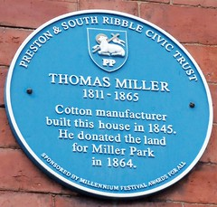 Photo of Thomas Miller blue plaque