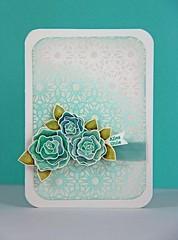 Pattern Hearts & Flowers Alles Gute