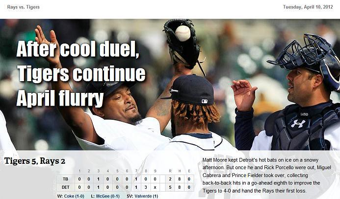 2012 DETROIT TIGER SCHEDULE AND RESULTS 6919639640_dabd3a2e9f_b