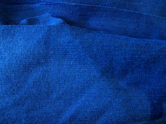 Christian Dior blue wool doubleknit
