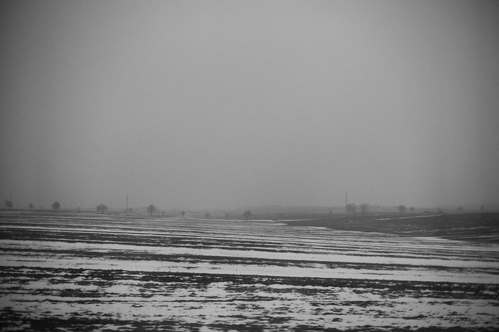 Landscape,train, Slovakia.