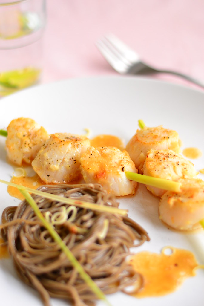Lemongrass scallops and soba 3