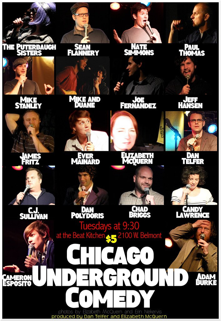 Chicago Underground Comedy cast 2012
