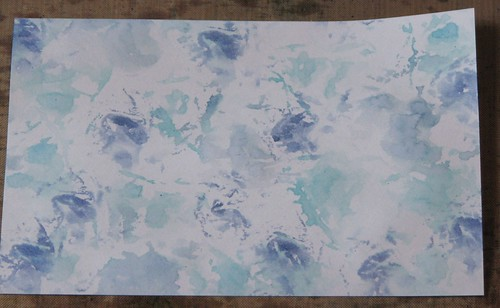 watercolor paper towel technique 006