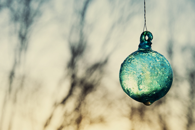 glaskulan i morgonljus