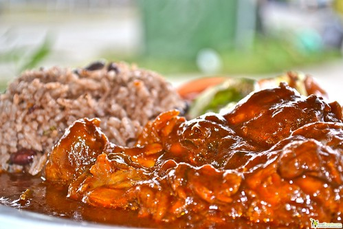 Traditional Casado - Rice and Beans (Coconut) Costa Rica food