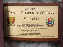 Photo of Daniel Florence O'Leary bronze plaque