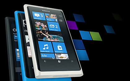 Nokia Lumia 800 Windows Phone smartphone.