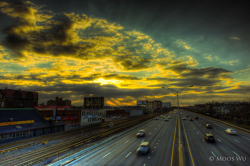 city light sunset sky cloud car boston speed highway ray 365 24mm catchycolor traintrack hdr project365 365days nikond700 mygearandme