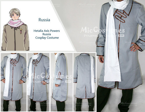 Hetalia Axis Powers Russia Cosplay Costume_1