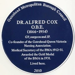 Photo of Alfred Cox blue plaque