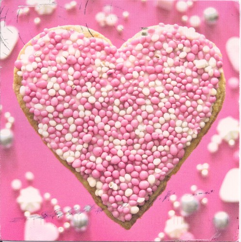 Pink & White Heart Cookie