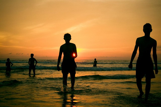 Silhouettes and a Bali sunset