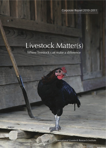 Cover of ILRI's Corporate Report for 2010-11