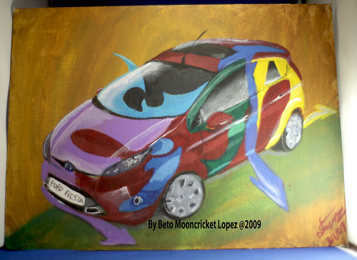 Ford Fiesta painting 03/01/09