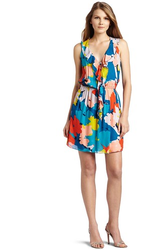 Floral Tank Ruffle Dress